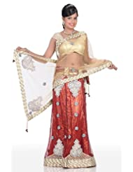 Chhabra555 Brown Net One Minute Saree