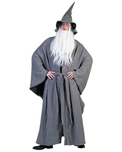 Pierro´s Kostüm Zauberer Hendrik Herrenkostüm Männerkostüm Gewand Hut Gürtel Größe Einheitsgröße für Karneval, Fasching, Party