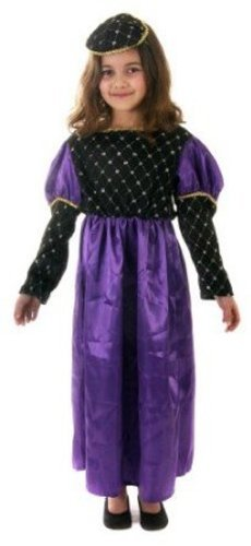 Girls Purple Renaissance Fancy Dress Costume Age 10-11 by Unknown (Renaissance Skirt & Hat)