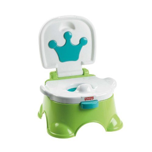 Fisher-Price Royal Stepstool Potty, Blue