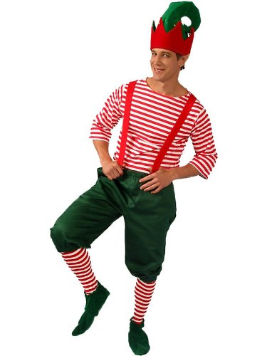 Alexanders Costumes Men's Christmas Elf Large