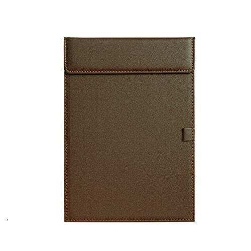 Clobeau Ultra-Smooth PU Leather Office Meeting Conference Magnetic A4 File Paper Profile Clip Drawing Writing Board Pad Tablet Desk Blotter Mat File Folder Clipboard Hardboard with Pen Holder Loop (Hotel Desk Folder compare prices)