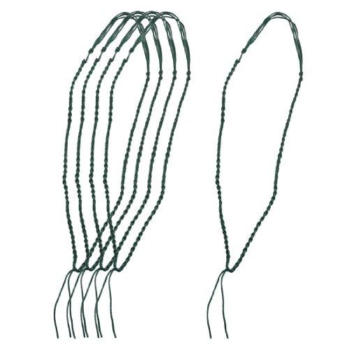 Rosallini 5 Pcs Handmade Green Nylon No Pendant Necklace Strings Cords
