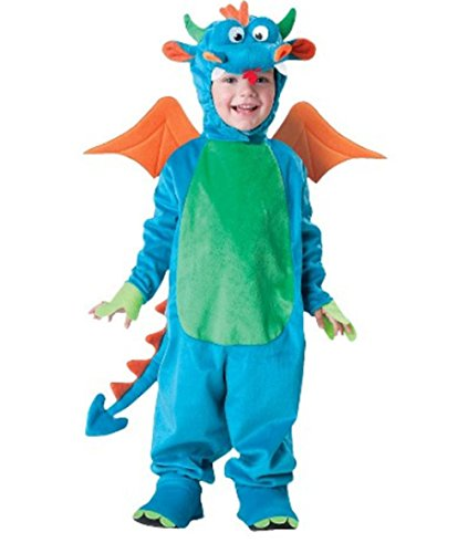 Lets Party By In Character Costumes Dinky Dragon Toddler Costume / Blue - Size 3T