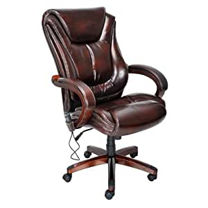 Lane Executive Leather Office Chair With Padded Handle Wate