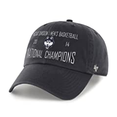 Buy NCAA Connecticut Huskies 2014 National Champions Clean Up Adjustable Hat by '47 Brand