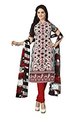 Nazaquat Multi Printed Crepe Unstitched Dress Material