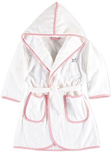Möve Baby Kinderbademantel, Größe 116, weiß / rosa