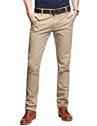 Match Mens Slim-Tapered Flat-Front Ca…