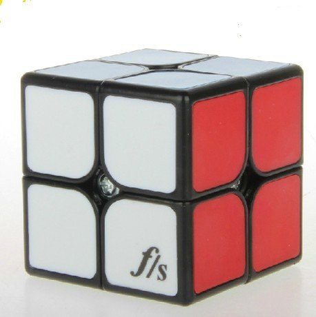Fangshi Shuangren Funs Shishuang Tiled Small 2 x 2 x 2 Black Speed Cube Puzzle - 1