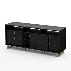 amazon com south shore uber collection tv stand black oak