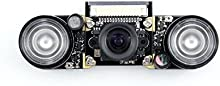 Waveshare Raspberry Pi Camera Night Vision Camera Module Kit 5MP OV5647 Webcam Video 1080p for All Version of Raspberry pi A/A+/B/B+/2 B/3 B
