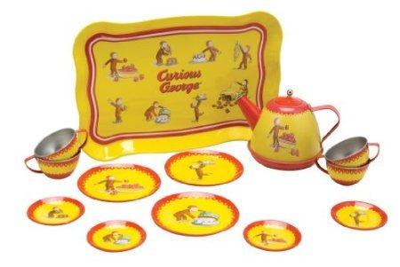 Schylling Curious George Tin Tea Set