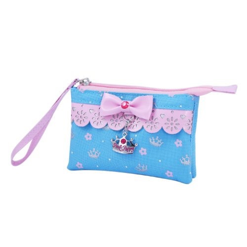 Pink Poppy Sweetness And Charms Wristlet (Blue)
