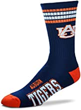 Auburn Tigers For Bare Feet 4-Stripe Deuce Socks
