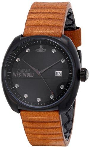 Vivienne Westwood VV080BKTN - Reloj analógico de cuarzo para hombre, correa de cuero color marrón