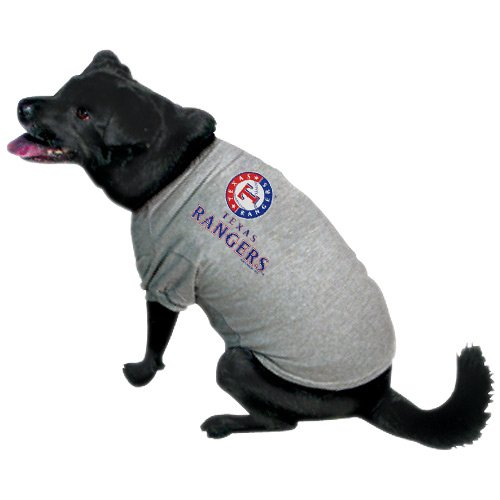 Texas Rangers Ash Logo Pet T-Shirt