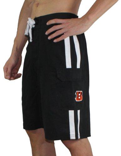 Mens Nfl Cincinnati Bengals Athletic Sports Shorts With Swim Lining L Black