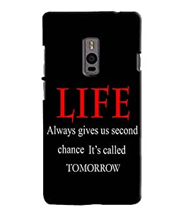 EU4IA LIFE Quote MATTE FINISH 3D MATTE FINISH Back Cover Case For ONE PLUS TW...