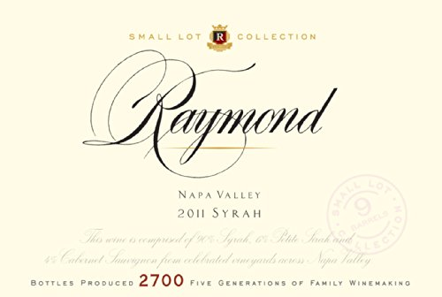 2011 Raymond Vineyards Small Lot Collection Syrah Napa Valley 750 Ml