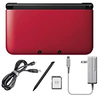 Nintendo 3DS XL Console Naked-Eye 3D Video Image with 3D Camera 3D Depth Dual Screen Motion Gyro Sensor Control Bundle Super Mario 3D, USB Cable, AC Adapter, 4GB SD Card, Pen Stylus Red by Nintendo
