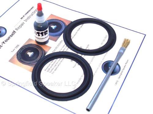 "Butyl Rubber 4"" Speaker Surround Repair Kit - 2 Piece, 4 Inch"