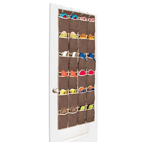 Over the Door Shoe Organizer that Surpasses all Shoe Storage Solutions, Introducing the Unjumbly Superior Over the Door Organizer - 24 LARGE Pockets and 4 Customized Over the Door Hooks (Big Shoe Organizer compare prices)