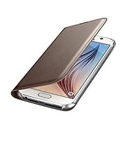 ELICA Leather Flip Cover For Lyf Ls-5009 Wind 6 Gold