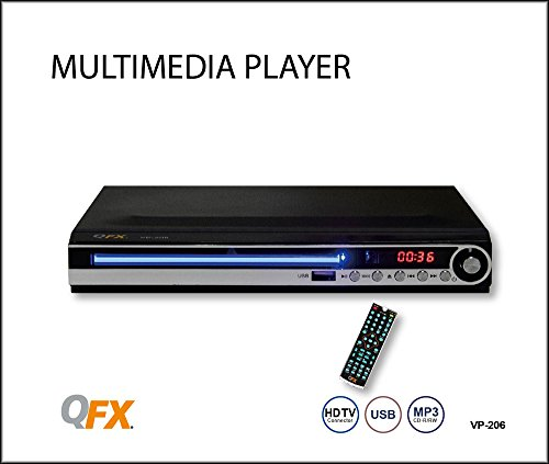 QFX VP-206; HDMI Upscaling to 1080P Multi Media Player
