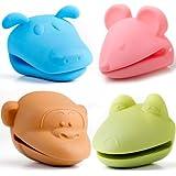 Animal Silicone Pot Holders - Bundle of 4 (Dog, Mouse, Frog, & Monkey)