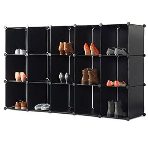 VonHaus: 15 cube de rangement modulable pour chaussures