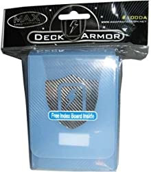 (1) Max Protection Clear Blue Trading Card Deck Box Armor - MP-100L DAOL