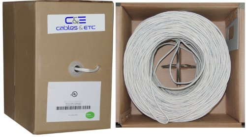C&E 500 feet 12AWG 2 Conductor Enhanced Loud Oxygen-Free Copper Speaker Wire Cable