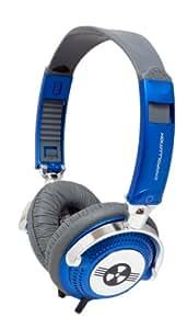 EarPollution Nerve Pipe Headphones - Stripes - Navy/Chrome