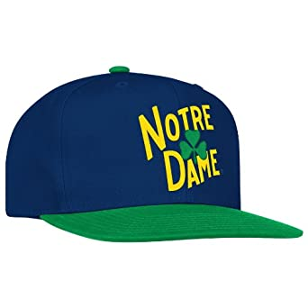 Buy NCAA Notre Dame Fighting Irish Logo Snapback Hat, One Size Fits All, Green Navy by adidas