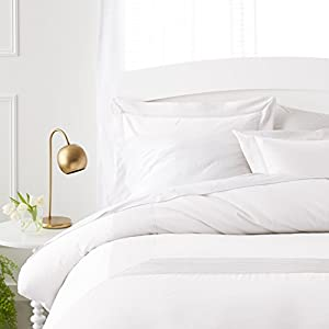 Pinzon 400-Thread-Count Pleated Hem Egyptian Cotton Duvet Set - Full/Queen, Cloud