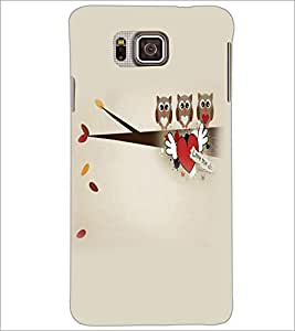 PrintDhaba Owls D-4410 Back Case Cover for SAMSUNG GALAXY ALPHA (Multi-Coloured)