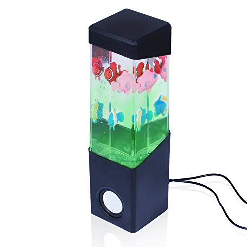 [Dancing Water Speakers Stereo Dancing Water Speaker Light Show Speakers Portable Colorful LED Floating Fish Music Box Water Fountain Amplifier Water Dance] (Adult Floating Ghost Halloween Costumes)