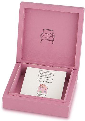 Tree By Kerri Lee Wooden Tooth Box, Pink