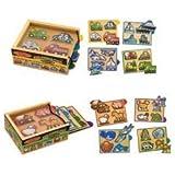 Melissa & Doug Deluxe Mini-Puzzle Pack Bundle