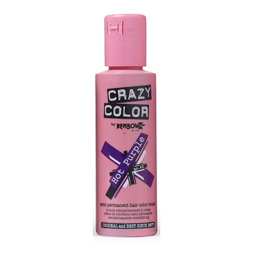 Renbow Crazy Color Semi Permanent Hair Color Cream Hot Purple No.62 100ml
