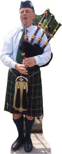 Bagpiper Scottish, Kilt Great Standup Standee