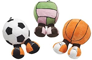 Ethical Plush Sport Walker Assorted Sports Plush Squeaky Dog Toy, 7-Inch