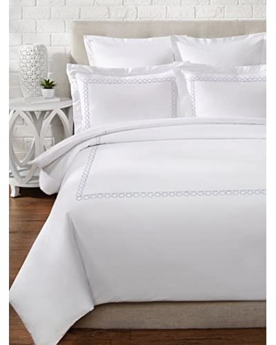 Mélange Home Egyptian Cotton Loops Embroidery Duvet Set