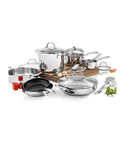 Wolfgang Puck Stainless Steel 18 PC cookware Set (Wolfgang Puck Cookware 3 Qt compare prices)