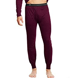 Duofold KMW2 Men\'s Mid Weight Wicking Thermal Pant - Bordeaux Red - Medium