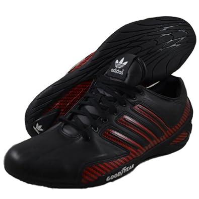 adidas Originals adiRacer Remodel G47393 Mens Running Sneaker Black/Scarlet Red/White (8 M)