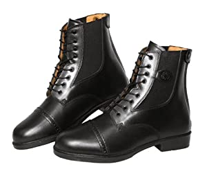 Covalliero Monaco 326438 Riding Boots Size 43 EU / 8-9 UK Smooth Leather with Laces Black
