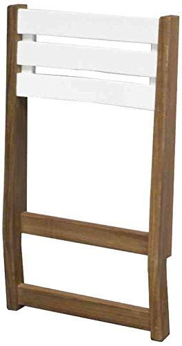 Siena Mybalconia 989874 Modular Rückenlehne Gestell Akazie FSC® 100% geölt Flächen Akazie FSC® 100% weiß lackiert