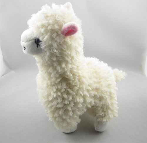Cute Alpaca Llama Plush Toy Creamy White Japan Animal Children Doll 23cm High by ETSYG
